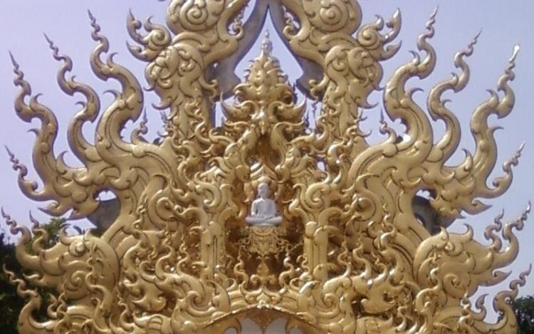 Buddha in golden clouds
